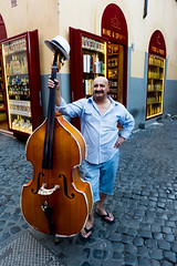 The Bassist (Dr-Radders) Tags: rome italy italia sony trastevere doublebass bass musician