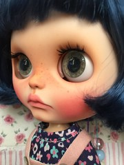 For Adoption.. my#14 custom girl.. put 1 pair Puppelina eyechip.. etsy store's link in picture description..