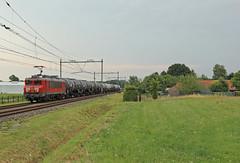 DBC 1616 met trein 61816 (kevinpiket) Tags: db dbcargo 1600 1616 elektrischelocomotief elok goederentrein goederenvervoer goederenwagens ketelwagens zuge guterzuge freighttrain train spoorlijn weiland boerderij weert limburg nederland canon 60d