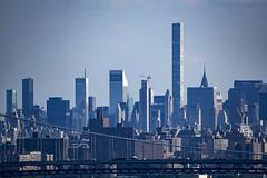 Cross island lineup (Jersey JJ) Tags: cross island lineup nyc new york city manhattan towers high rises sky scrapers j2 432parkavenue citicorp metlife chrysler trump tower gwb gw gwbridge