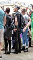 """bootsservice 17 1600973 (bootsservice) Tags: paris """"gay pride"""" """"marche des fiertés"""" bottes cuir boots leather sm motards motos motorcyclists motorbiker caoutchouc rubber uniforme uniform"""