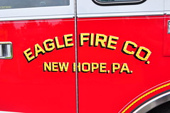 Eagle Volunteer Fire Company Tower Ladder 46 (Triborough) Tags: pa pennsylvania buckscounty newhope evfc eaglevolunteerfirecompany firetruck fireengine ladder tower towerladder ladder46 tower46 towerladder46 pierce lance