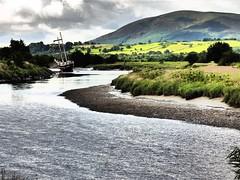 Bend (tobymeg) Tags: sailing ship river nith dumfries scotland water boat bend panasonic dmcfz72 criffel sky