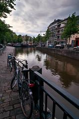 Noorderhaven   Groningen (frata60) Tags: nikon d300s 1224mm hdr highdynamicrange groningen stad netherlands nederland city noorderhaven noordnederland bike sky luchten reitdiep visserbrug