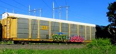 eager - amen (timetomakethepasta) Tags: eager amen freight train graffiti art autorack csx benching selkirk new york photography