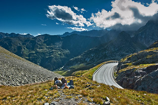 Time out. Wellcome to Italy, the Italien side of the Great Saint Bernard Pass.(2,469 alt. )No. 2235.