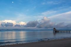 Quiet morning mood (dominiquesainthilaire) Tags: thailande thailand kohyaoyai beach plage sunrise leverdesoleil seascape paysage landscapes blue bleu mer nikon nikond7100 travels voyages island île mood worldtrekker