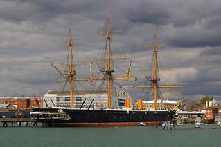 HMS Warrior, Portsmouth Harbour, April 27th 2015