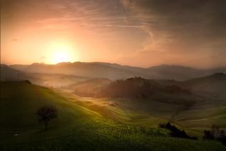 Magic view in Tuscany