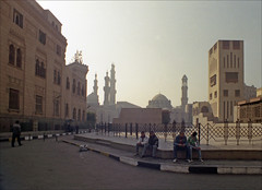 Cairo, Early Morning (TWE42) Tags: publicplaces religiousplacesanditems egypt cairo streets canonftb film