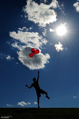 Gravity (disgruntledbaker1) Tags: sun sky red disgruntledbaker balloon