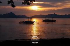 Dusk at El Nido (Hendraxu) Tags: sunset sea ocean water dusk twilight orange golden color silhouette asia palawan el nido elnido philippines travel destination tourist spot