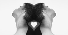 Welcome to me (neilantondumas) Tags: love masculine masculinity man men portrait selfportrait autoportrait blackwhite monochrome bright canada fragile heart shape romance
