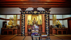 Adashino Nenbutsuji VII (Douguerreotype) Tags: japan kyoto buddhist temple shrine religion altar statue buddha gold architecture prayer worship
