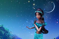 Poppy Parker Irresistible In India as Jasmine (ArLekin26113) Tags: poppyparker irresistibleinindia fashionroyalty fashiondoll integrity jasonwu fairytale cartoon disney princess jasmine aladdin moon starrysky night