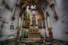 A B A N D O N E D : G O D S (Cristian Lipovan) Tags: abandoned derelict explore empty destroyed urbex urban exploration decay decayed broken rust old deserted creepy placessuffering village ngc indoor art beautiful beauty dark dead death life light outdoor factory canon architecture alley column church religion france
