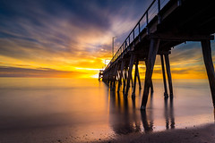 Largs Jetty Winter Sunset (BTAdelaide) Tags: nisifilters landscapephotography ocean sunset goldenhour jetty longexposure seascape canon southaustralia adelaide clouds