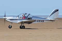G-CEVS (QSY on-route) Tags: gcevs lancashire landing 2017 knott end beach airfield 17062017