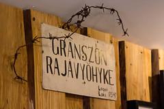 Igor museo, borderline sign (visitsouthcoastfinland) Tags: visitsouthcoastfinland degerby igor museum museo finland suomi travel history indoor