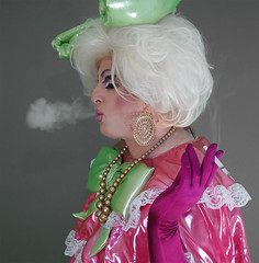 pink11 (queerina) Tags: dragqueen xdresser fag fairy flamer effeminate poofter poof frock sissy smoking smokingcrossdresser crossdressing mincing mincer limpwristed camp effeminacy