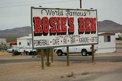 Rosie's Den (Midnight Believer) Tags: dolanspringsarizona sign billboard signage mohavecounty americansouthwest worldfamous roadside