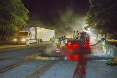 Work zone with traffic (OregonDOT) Tags: oregondot oregonstatepolice kniferivercorporation workzone workzonesafety construction oregon odot safety patrol enforcement police woodburn interstate5 i5