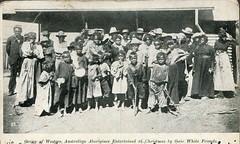 Group of Western Australian aborigines -Christmas 1910 (Aussie~mobs) Tags: australia aborigine native indigenous vintage westernaustralia group christmas 1910 aussiemobs