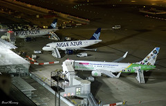 Orly Airport (birrlad) Tags: orly ory international airport paris france aircraft aviation airplane airplanes airline airliner airlines airways taxi taxiway apron ramp terminal stand gate night photography boeing airbus transavia aigleazur