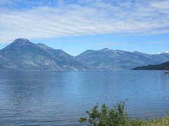 Looking across the lake (trilliumgirl) Tags: kootenay lake bc british columbia canada blue sky mountain water