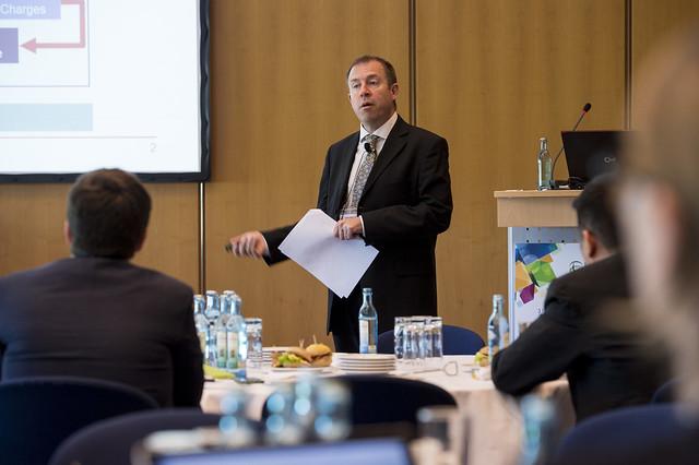 Dan Elliott presenting on the future of private investment