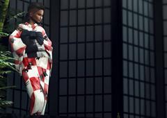 1.52 (Carley Benazzi) Tags: tableauvivant kustom9 japonica gabriel ~22769 katat0nik catwa cx studioexposuremakeup model mesh makeup neon lights neonlightcollection kimono accessories furniture shadows events ebony