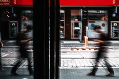 depart (ewitsoe) Tags: man walking blur sidewalk poznan poalnd ewitsoe canon eos5ds fade morning cityscape city urban trick blurred soft europe cinema