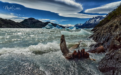 Spectacular Lago Grey (marko.erman) Tags: torresdelpaine lagogrey patagonia chile andes magellanes landscape lake glacier iceberg clouds lenticular spectacular nature pov beautiful sunny panorama artctic waves windy wild rough