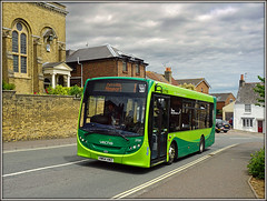 2709, Terminus Road (Jason 87030) Tags: goahead southernvectis enviro 200 2017 may iow island isleofwight route 1 newport cowes hill road 017 sky weather light clouds transport hw64awz