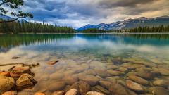 Lake Beauvert (michaelsabijon) Tags: lake landscape longexposure canoncanada canada150 eos7d sigma jaspernationalpark abigfave