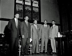 King on stage at Howard University: 1956 (washington_area_spark) Tags: rev martin luther king jr howard university andrew rankin memorial chapel speech 1956 montgomery bus boycott african american black civil rights segregation integration jim crow white supremacy racism washington dc there comes time when people get tired being trampled by iron foot oppression alabama