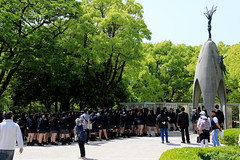 Children's Peace Monument, Hiroshima, Japan 広島市 (Sharaz Jek) Tags: childrenspeacemonument papercranes sadakosasaki hiroshima japan wwii history memorial atomicbomb travel travelphotography canoneos550d 広島市