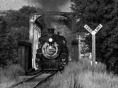 The Journey Begins (Jake Branson) Tags: train railroad colorado co steam locomotive engine k36 282 mikado drgw rio grande durango silverton bridge truss