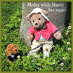 Maisy is smiling with Rusty (her Standard Poodle male puppy). (martian cat) Tags: ribbet macro teddybearsinjapan© ©martiancatinjapan ©teddybearsinjapan allrightsreserved© teddybearsinjapan teddybearsinjapan☺ ☺teddybearsinjapan ©allrightsreserved martiancatinjapan© teddybear teddybears collectibles hobbies ☺dogsandpuppiesinjapan ©dogsandpuppiesinjapan dogsandpuppiesinjapan© dogsandpuppiesinjapan ©puppydogsinjapan puppydogsinjapan© puppydogsinjapan ☺allrightsreserved allrightsreserved motivationalposter motivational caption captioncollection ☺martiancatinjapan martiancat martiancat© ©martiancat martiancatinjapan creativity