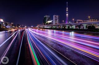 River Cruising, Tokyo Sumidagawa by Night
