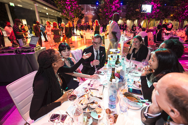 Attendees in discussion at the Gala Dinner
