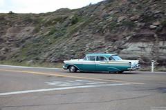Old car in Drumheller (Canadian Pacific) Tags: calgary alberta canada canadian rural countryside badlands reddeer river valley drumheller old vintage american car 2017aimg9540