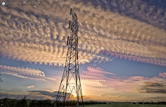 pylon - Time Stack (Silent Eagle  Photography) Tags: sep silent eagle photography bernacer timestack sky clouds farm northeast sunderland tynewear sun sunset silenteagle09 outdoor weather iso50