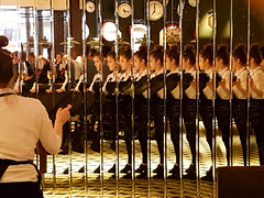 Multiple Exposure (NiiiiiJ) Tags: mirrorimage waitress reflecting reflections service multiple exposure