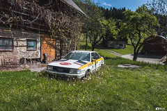 Abandoned Audi rally car (nixxisphotography) Tags: 2017 abandoned abandonné art artistique autriche austria audi auto bois color couleur cars cimetere campagne decor decay destroyed detail exploration explore essence forgotten fuel foret graveyard green german httpnixxisphotographywixsitecomhome loisirs lumiere lost light land landscape metal materiel old outdoor oldcars oldschool oldtimer rally roulant rouille rusty route road rust transport urbex urban vehicules voiture vintage wood wheels