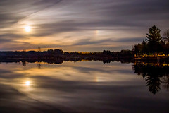 Moon Reflections (Explored) (T P Mann Photography) Tags: moon night dark sky reflections mirror long exposure canon t3i sea seascape landscape rural trees silhouettes shadows
