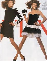 Valentino 1987 (barbiescanner) Tags: vintage retro fashion vintagefashion vintageads 80s 1980s 80sfashion 1980sfashion lindaevangelista stevenmeisel valentino