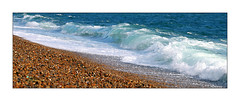 The Waves Rolling In (paulinecurrey) Tags: beach sea pebbles waves ocean chesilbeach portland nature natural sunny sunshine