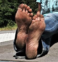 dirty city feet 507 (dirtyfeet6811) Tags: feet soles barefoot dirtyfeet dirtysoles filthyfeet filthysoles cityfeet
