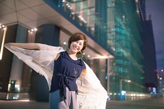 Young woman fluttering with cloth in night city (Apricot Cafe) Tags: img37978 2024years asia asianandindianethnicities japan japaneseethnicity shiodome sigma35mmf14dghsmart tokyojapan beautifulwoman brownhair buildingexterior business casualclothing charming cheerful citylife colorimage connection copyspace enjoyment fluttering happiness horizontal humanarm lifestyles lightingequipment lookingatcamera necklace night oneperson onlyjapanese onlywomen onlyyoungwomen outdoors people photography portrait shorthair smiling street threequarterlength toothysmile wing women youngadult